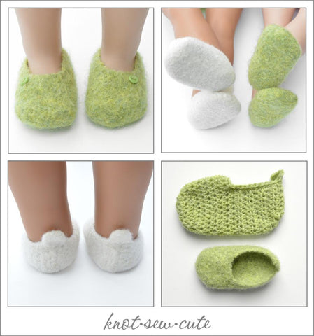 Felted Slippers Crochet and Felting Pattern