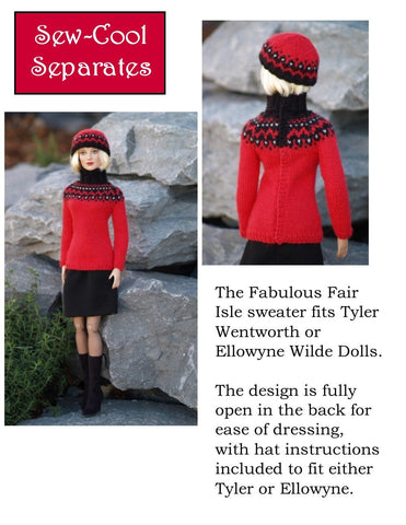 Fabulous Fair Isle Knitting Pattern for Ellowyne and Tyler Wentworth Dolls
