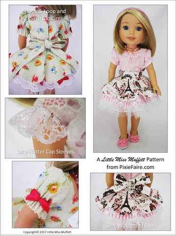 "Faerie Faye 14.5"" Doll Clothes Pattern"