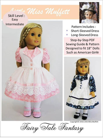 "Little Miss Muffett 18 Inch Modern Fairy Tale Fantasy 18"" Doll Clothes Pattern Pixie Faire"