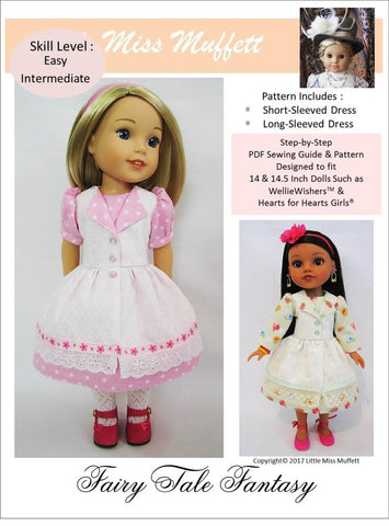 "Fairy Tale Fantasy 14-14.5"" Doll Clothes Pattern"