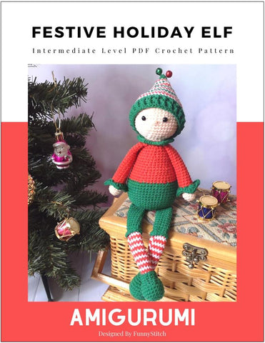 Festive Holiday Elf Amigurumi Crochet Pattern