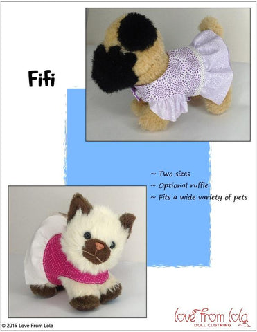 "Fifi and Fido 18"" Doll Pet Pattern"