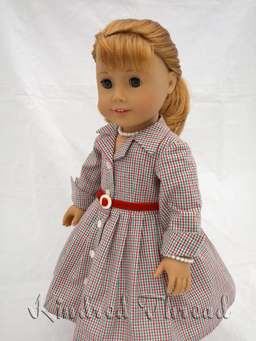 "Fifties Shirtwaist Dress 18"" Doll Clothes"