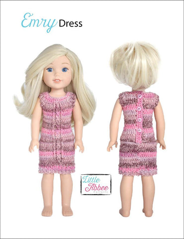 "Emry Dress Crochet Pattern for 14-14.5"" Dolls"