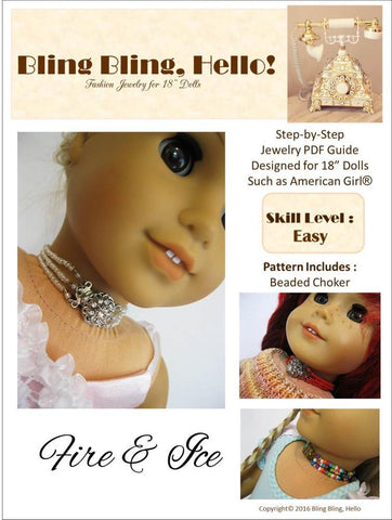 Fire & Ice Doll Jewelry Pattern