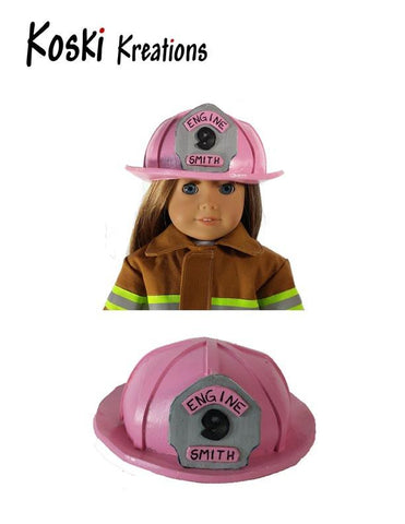 "Firefighter Helmet 18"" Doll Accessory Pattern"