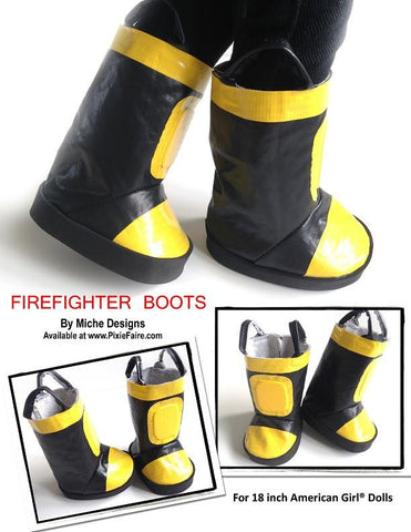 "Firefighter Boots 18"" Doll Shoes"