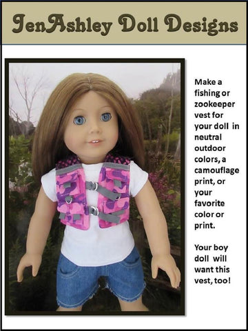 "Fishing Vest 18"" Doll Clothes"