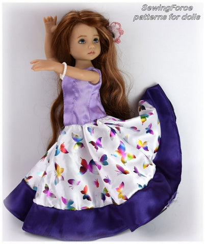 Castilian Flamenco Dress Pattern for Little Darling Dolls
