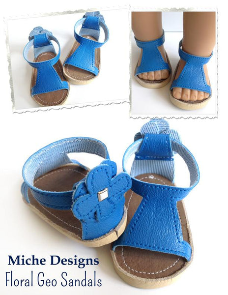 Floral Geo Sandals Inch Doll Shoes Pdf Pattern