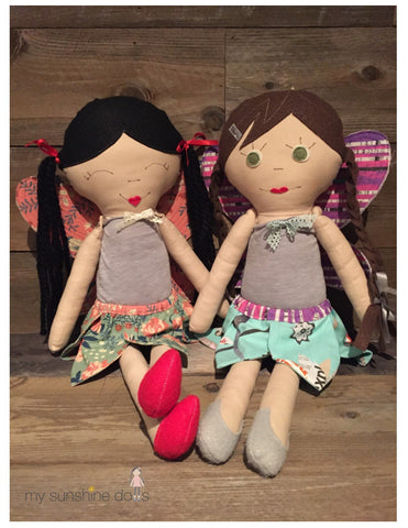 My Sunshine Dolls Fluttering Fairy Costume designed to fit Lena cloth doll and 18 inch American Girl dolls