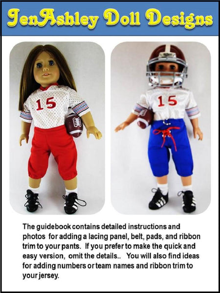 Jenashley Doll Design Touchdown Football Uniform Doll