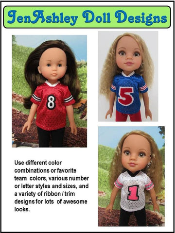 Football Jersey for Les Cheries and Hearts for Hearts Dolls