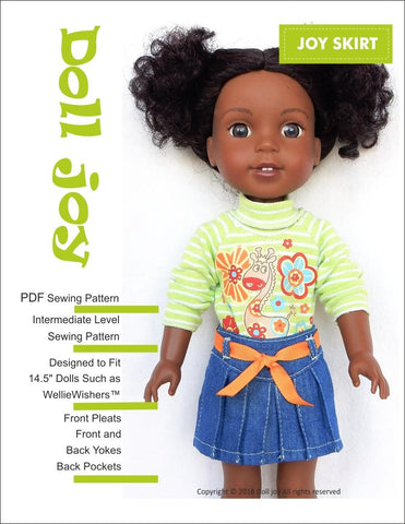 "Joy Skirt 14.5"" Doll Clothes Pattern"