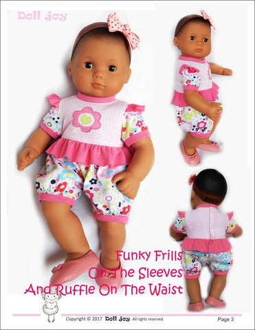 "Romper 15"" Baby Doll Clothes Pattern"