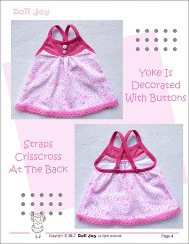 Camisole and Panties Pattern for Kidz N Cats Dolls