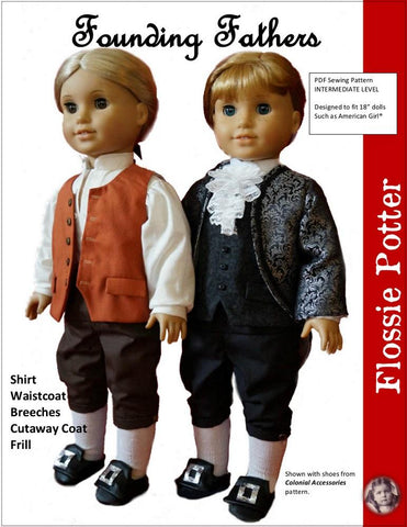 "Founding Fathers 18"" Doll Clothes Pattern"
