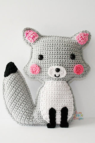 PDF amigurumi crochet pattern fox kawaii cuddler stuffed animal