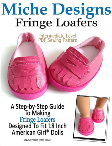 "Fringe Loafers 18"" Doll Shoes"