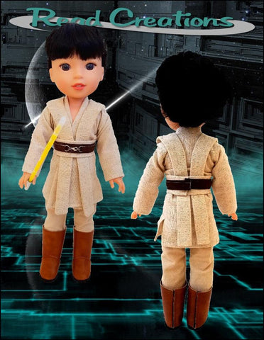 "Galactic Warrior 14-14.5"" Doll Clothes Pattern"