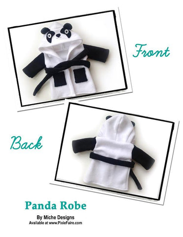 "Panda Robe 18"" Doll Clothes"