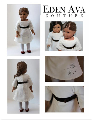 "Frozen Hot Chocolate Holiday Dress 18"" Doll Clothes Pattern"