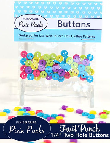 "Pixie Packs 1/4"" Buttons Fruit Punch"