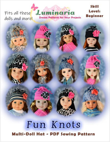 Fun Knots Multi Sized Hat Pattern For Dolls