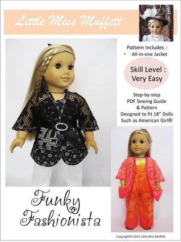 "Little Miss Muffett 18 Inch Modern Funky Fashionista Jacket 18"" Doll Clothes Pixie Faire"