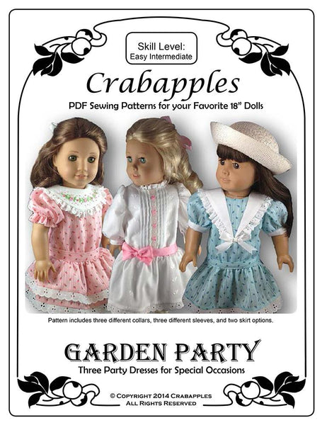 Garden Party Dress 18 Inch Doll Clothes Pdf Pattern