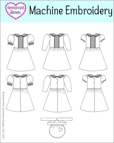 Holly Dress & Apron Machine Embroidery Design