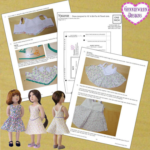 Mackenzie Dress Pattern for AGAT Dolls