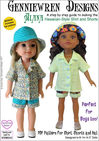 "Alana 14-14.5"" Doll Clothes Pattern"