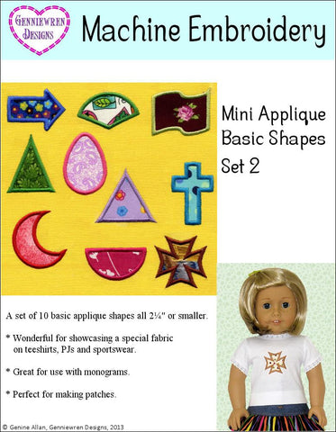 Mini Applique Basic Shapes Set 2 Machine Embroidery Design