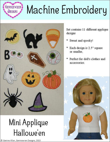 Mini Applique Halloween Design Set Machine Embroidery Designs