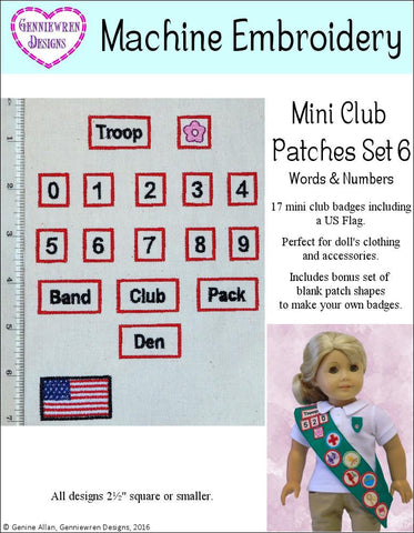 Mini Club Patches Design Set 6 Machine Embroidery Designs