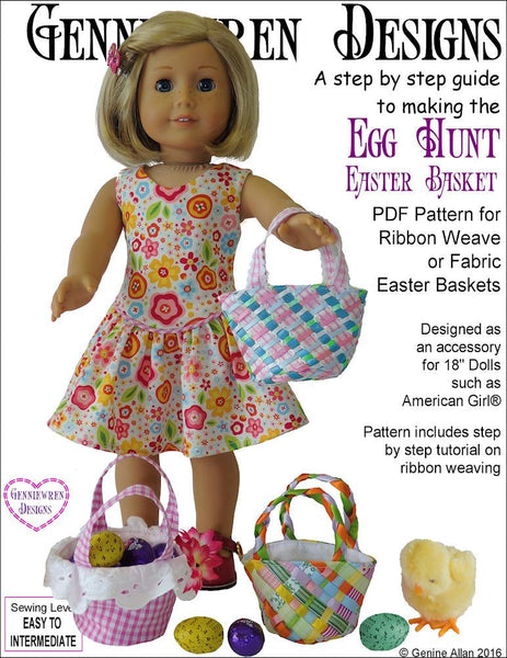 Genniewren Designs Egg Hunt Easter Basket Doll Accessory