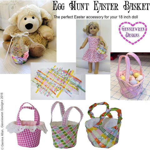 "Egg Hunt - Easter Basket 18"" Doll Accessories"