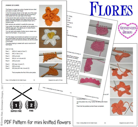 "Flores 18"" Doll Knitting Pattern"