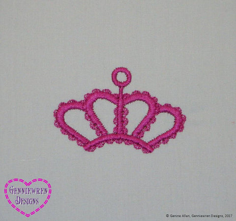 Free Crown Machine Embroidery Design