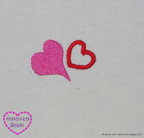 Free Hearts Machine Embroidery Design