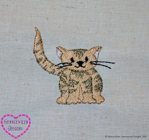 Free Kitten Machine Embroidery Design
