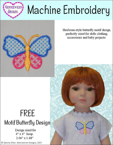 Free Butterfly Machine Embroidery Design