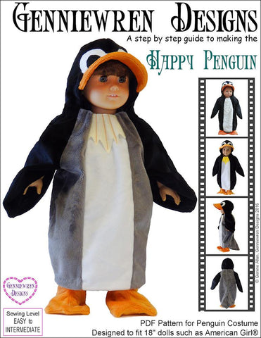 Happy Penguin Costume 18  Doll Clothes  sc 1 st  Pixie Faire & 18 inch Doll Clothes Patterns Costumes for American Girl Doll ...