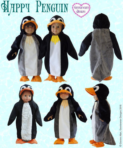 "Happy Penguin Costume 18"" Doll Clothes"