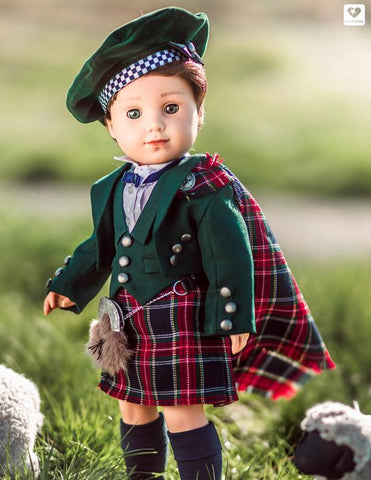 "Highland Kilt 18"" Doll Clothes Pattern"
