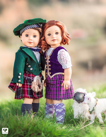 "Prince Charlie Jacket and Vest 18"" Doll Clothes Pattern"