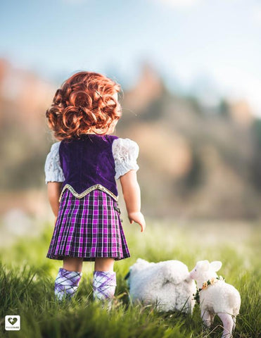 "Highland Dance Blouse 18"" Doll Clothes Pattern"
