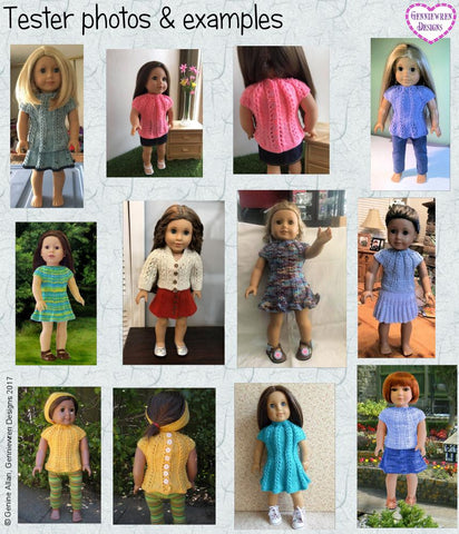 "Jazz Dress 18"" Doll Knitting Pattern"